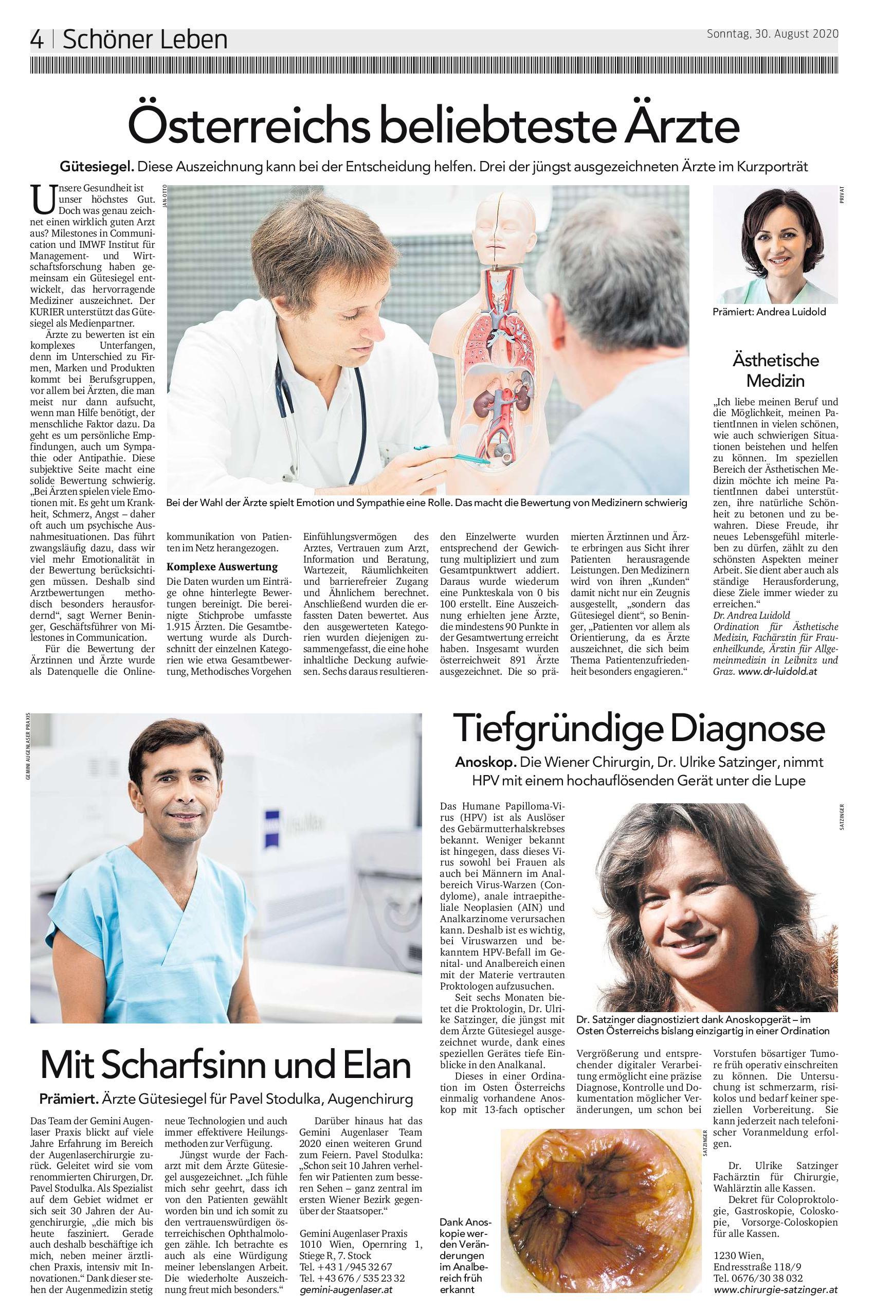 Pavel Stodůlka nejoblíbenějším lékařem v Rakousku